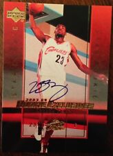Lebron James 2003-04 UD Exclusives Star Auto Autograph Rookie RC Reprint #A1 $
