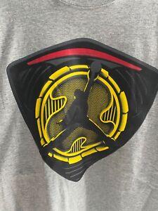 Nike Air Jordan 14 Ferrari T-Shirt Sz Large Yellow Logo