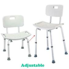 300 lb. Elderly Bathroom Bath Shower Seat Chair Bench Stool with Back Support