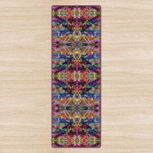 Ribbon Mandala Yoga Mat. High Quality UK Design Padded, Non-Slip, Rubber base