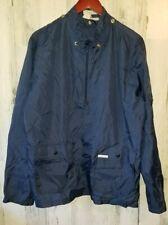 Vintage Christian Dior Nylon Windbreaker Jacket Men's Size Medium Blue 1/2 Zip