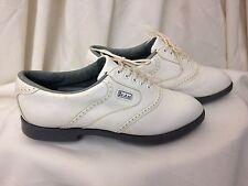 Dexter Neptune Plus White Men's Quarter Brogue Oxford Golf Shoes - Size US 8