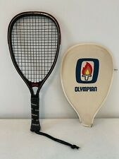 Vintage Olympian 3 3/4 Graphite Composite Racquetball Racquet Racket With Sleeve