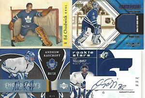 2007-08 UPPER DECK TRILOGY ANDREW RAYCROFT AUTOGRAPHED PATCH 6/10