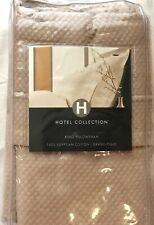 HOTEL COLLECTION GRAND PIQUE 100% EGYPTIAN COTTON CHAMPAGNE KING PILLOWSHAM NIP