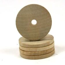 Wood Washer Round with Center Hole - 3.25-Inch Diameter for Crafts & Wood Wheels