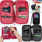 Travel Organiser Passport Document Holder RFID Cards Tickets Wallet Pouch Bag UK
