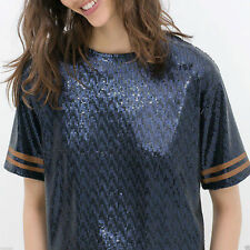 Zara Sequin Party Tops & Shirts for Women