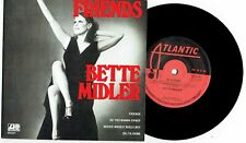 "BETTE MIDLER - FRIENDS - RARE 7"" 45 EP RECORD w PICT SLV - AUSTRALIAN ONLY 1972"