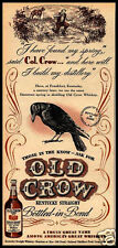 VINTAGE STYLE RETRO METAL PLAQUE OLD CROW WHISKEY Sale's Sign  Ad