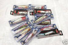 10 assorted holographic pike plugs made by take lures