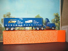 WINROSS 1/64 HERSHEY FALL BLUE 1988 TRACTOR AND TRAILER *