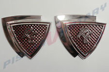 RE ,2 BADGES (pair) New , for Rotary Capella Mazda Rotor R100 RX2 RX-2 13B 12A
