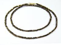 Edelsteinkette aus Spinell in facettierter Radform Ø-3mm 925er Silber Verschluss