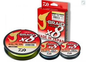 Daiwa J-Braid Grand x8 Fishing Braid Line 150 Yards - Pick Color/Line Test