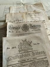 EPHEMERA LOT 1700-1800s Italian Nobility Chronology, Memoirs, Newspapers