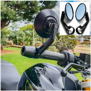 """For Bobber Cafe Racer 2PCS Motorcycle Round 7/8"""" Bar End Rearview Side Mirrors"""