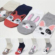 4 Pairs Animal Face Pattern Socks Women Socks Girls Big Kids Socks MADE IN KOREA