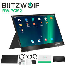 BlitzWolf 13.3'' FHD 1080P Portable PC Computer Gaming Display Screen Monitor