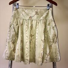 Size 16 Girls (can Fit Small Womans) RALPH LAUREN Green Floral Pocket Skirt