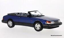 SAAB 900 S Cabriolet 1987 metallico-Blu 1:18 Bos >> NEW <<