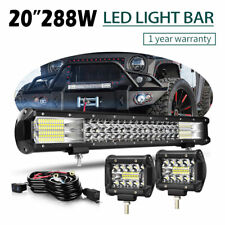 """20"""" Inch Tri-Row LED Work Light Bar Combo Offroad Driving Lamp Trucks Boat DTC"""