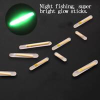 50x Mini Fishing Fluorescent Lightstick Light Night Float Clip On Glow Stick q w