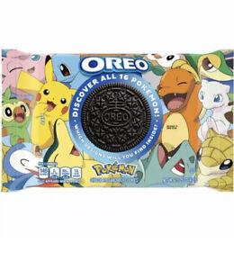 New / Oreo Pokemon Collab Chocolate Sandwich Cookies 15.25oz LIMITED EDITION