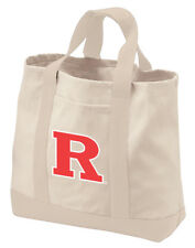 ba4ed148599e Rutgers University Tote Bags NATURAL COTTON CANVAS RU Bag