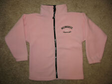 Girls Small Full Zip Fleece Jacket Sweatshirt Top Pink Milwaukee Zoo (about 4/5)
