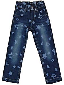 Süße Mädchen Jeans mit Sternenprint Hose Slim fit 92 98 104 Skinny Blue Seven