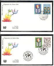 United Nations Sc # Ny 322-323 Vienna 12-13 Un 35th Anniversary Fdc. Unpa Cachet