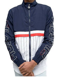 Fila Sports Men's PRIMO SHELL SUIT JACKET Peacoat/White/Red LM171YB8-41 b