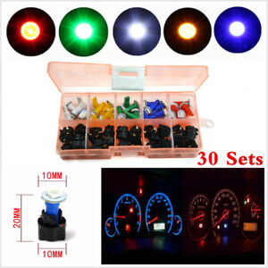 30×Mixed 12V T5 LED Dashboard Light For Car Socket Instrument Panel Cluster Plug