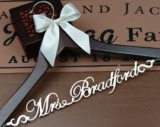 Personalized Wedding Dress Hanger, Custom Bridal or Bridesmaid Name Hanger EL001