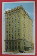 VTG POSTCARD-HOTEL ARGONNE-LIMA OHIO