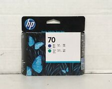 New Genuine HP C9408A HP 70 Sealed Blue and Green Printhead- SEALED