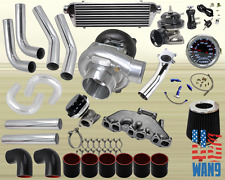 Vw Golf Jetta Vr6 T3/T4 Turbocharger Turbo Kit Black+Manifold+Bov+Wg+Gauge