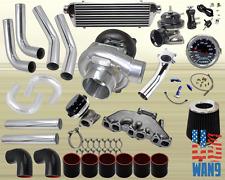 Vw Golf Jetta Vr6 T3/T4 Turbocharger Turbo Kit Black+Manifold+Bov+Wg+Gauge