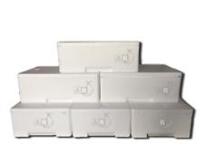 6 pezzi Box Cassa Scatola Termica in Polistirolo per Trasporto Alimenti da 30 kg