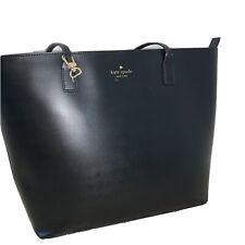KATE SPADE | Black Leather Tote Shoulder Bag