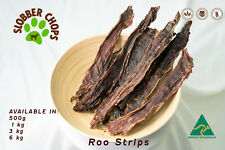 1kg KANGAROO ROO JERKY STRIPS NATURAL HEALTHY LOW FAT HIGH PROTEIN DOG TREAT