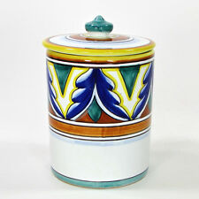 "Vietri UMBRIA - MICHELANGELO 5.5"" Lidded Canister Italian Pottery Deruta NWT"