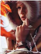 PUBLICITE ADVERTISING 105 2012  HERMES  la montre CAPE COD