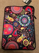 "15.6"" Neoprene Plus Notebook Sleeve With Fur Lining - jellyfish Print"