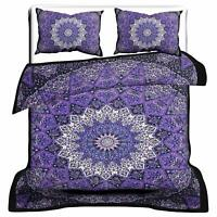 Purple Doona Duvet Quilt Cover Set Queen/Twin Size Floral Bed Pillowcase