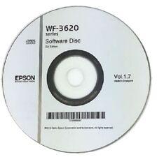 WF-3620 EPSON PRINTER SOFTWARE DRIVER DISC ON CD / DVD CLONE