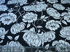 3 Yards Quilt Cotton Fabric - Timeless Treasures Large White Floral on Navy Blue