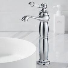 Vintage Style Brass Chrome Faucet Bathroom Basin Sink Single Lever Mixer Tap