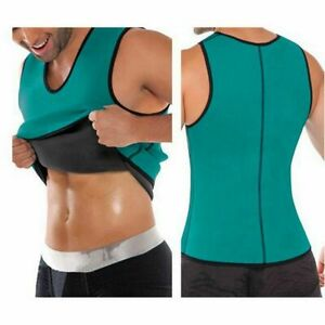 Men Compression BODY SHAPER Neoprene Weight Loss  Seamless Slimming Vest